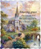Amazing Grace Inspirational Quilted Throw