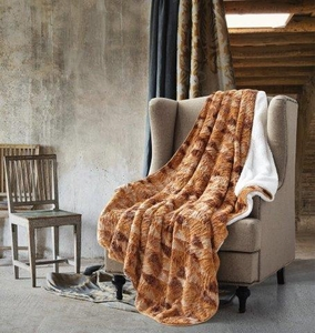 Autumn Forest Sherpa Throw