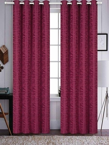 Azrael Blackout Curtain Set:  Burgundy