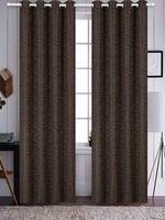 Azrael Blackout Curtain Set:  Chocolate