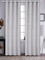 Azrael Blackout Curtain Set:  Gray