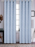 Azrael Blackout Curtain Set:  Sky Blue