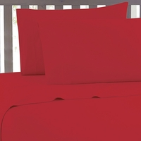 Bamboo Luxury 2100 Series Red Sheet Set