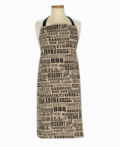 BBQ Typoography Chambray Apron