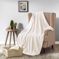 Creamsicle Sherpa Throw