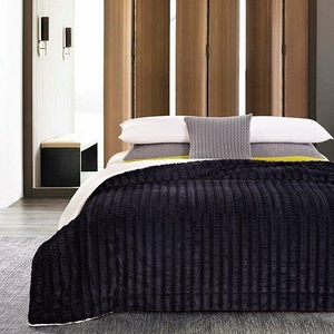 Black Truffle Luxury King Size Sherpa Blanket