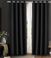 Blackout Curtain Set:  Black