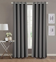 Blackout Curtain Set:  Charcoal