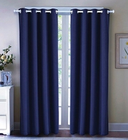 Blackout Curtain Set:  Navy Blue