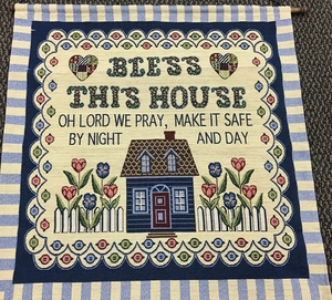 Bless This House Tapestry Wall Hanging