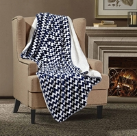 Blue Chevron Throw