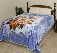 Blue Flowers Super Heavyweight Blanket