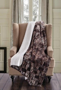 Brown Timber Sherpa Throw