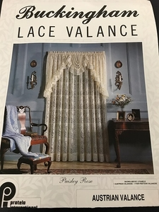Buckingham Lace Valence paisley Rose Color : White