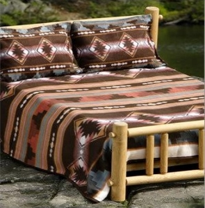 Cabin Fever Grecas Blanket:  Full/Queen