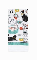 Cats Allover Kitchen Towel