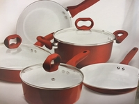 Ceramic Cookware Set - Candy Apple Red