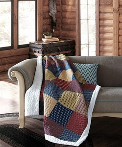 Charm Patchwork Sherpa Throw
