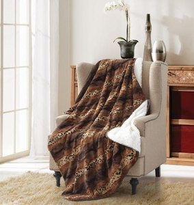 Cheetah Stripe Sherpa Throw