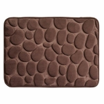 Chocolate Pebble Memory Foam Bath Mat