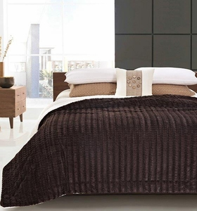 Chocolate Truffle Luxury King Size Sherpa Blanket