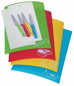 Chopping Mats with Knives