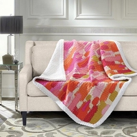 Chroma Quilted Sherpa Throw