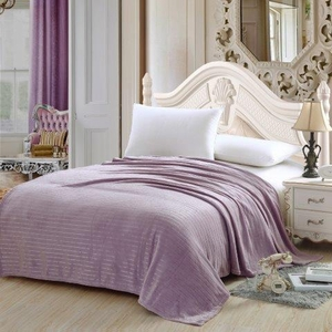 Classic Striped Blanket Lavender