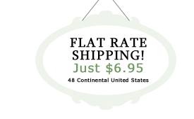 Flat Rate Shipping! Just $6.95! 48 Contiguous US Only.