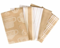 Coffee 5 Piece Kitchen Towel Set