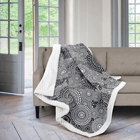Kyoto Black & White Quilted Sherpa Throw