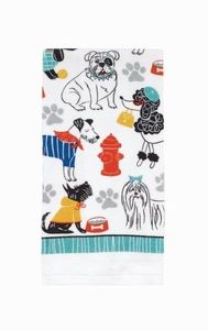 Dogs Allover Kitchen Towel