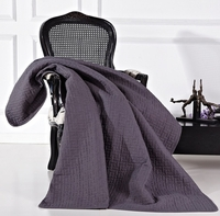 Adalia Gray Quilted Throw