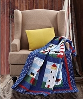 Lighthouse Quilted Throw