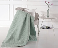 Mia Seafom Green Quilted Throw
