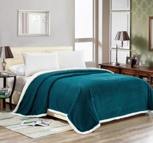 Elite Oversized Sherpa Blanket:  Teal