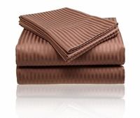 Embossed Sheet Set - Chocolate