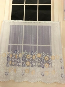 "Field of Flowers Curtain Tier 60"" X 36"""