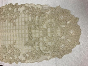 "Floral Trellis Gold 14"" X 36"" Table Runner"