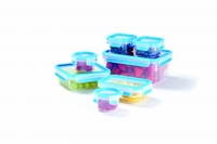 Fresh Plastic Food Storage Container Set – 14 Pieces