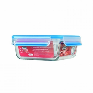 Fresh Square Glass Food Storage Container – 32oz