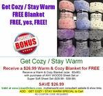 Get Cozy / Stay Warm Sheet & FREE Blanket SPECIAL OFFER