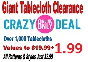 Giant Tablecloth Clearance