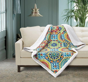 Granda Quilted Sherpa Throw