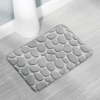 Gray Pebble Memory Foam Bath Mat