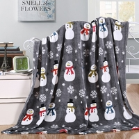 Gray Snowman Holiday Throw
