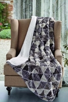 Gray Triangle Shepra Throw