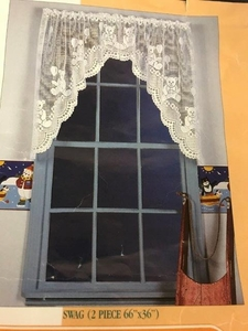 """Great Lace Company Country Bear Curtains  54' X 24"""""""