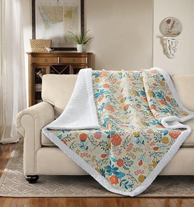 Greta Quilted Sherpa Throw
