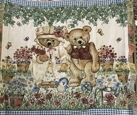 Happy Bears Tapestry Throw